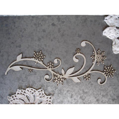 Scrapaholics Laser Cut Chipboard 1.8mm Thick - Snowflake Flourish, 6.5in x 2.75in