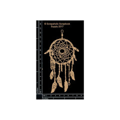 Scrapaholic Laser Cut Chipboard 1.8mm Thick - Dream Catcher Small, 6in x 3.25in