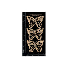 Scrapaholic Laser Cut Chipboard 1.8mm Thick - Monarch Butterflies, 3 pack