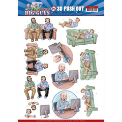 Find It Trading Yvonne Creations Punchout Sheet - Gaming, Big Guys Workers