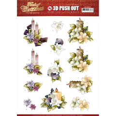 Find It Trading Precious Marieke Punchout Sheet - Candles, Touch Of Christmas