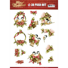 Find It Trading Precious Marieke Punchout Sheet - Birds, Touch Of Christmas