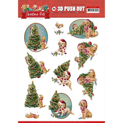 Find It Trading Amy Design Punchout Sheet - Christmas Tree, Christmas Pets