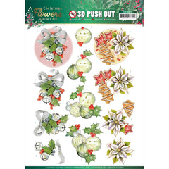 Find It Trading Jeanine's Art Punchout Sheet - Christmas Bells, Christmas Flowers