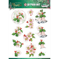 Find It Trading Jeanine's Art Punchout Sheet - Pink Flowers, Christmas Flowers
