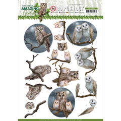 Find It Trading Amy Design Punchout Sheet - Night Owls, Amazing Owls