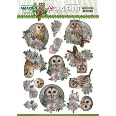 Find It Trading Amy Design Punchout Sheet - Romantic Owls, Amazing Owls