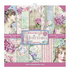 Stamperia Double-Sided Paper Pad 12in x 12in  10 pack - Hortensia, 10 Designs/1 Each