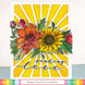Waffle Flower Crafts Clear Stamp 5in X 7in - Sunflower Love