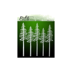 Picket Fence Studios Stencil 6in x 6in - Evergreens