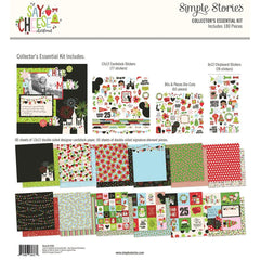 Simple Stories - Collector's Essential Kit 12 inchX12 inch - Say Cheese Christmas