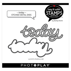 PhotoPlay Say It With Stamps Die Set - Today