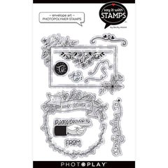 PhotoPlay Say It With Stamps Photopolymer Stamps - Envelope Art - 4in  x 6in