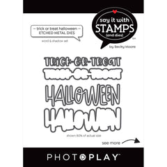 PhotoPlay Say It With Stamps Die Set - Trick/Treat