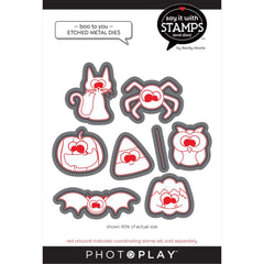 PhotoPlay Say It With Stamps Die Set - Boo To You