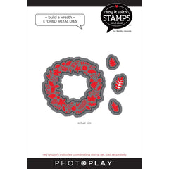 PhotoPlay Say It With Stamps Die Set - Fall Build A Wreath