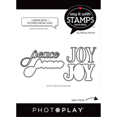 PhotoPlay Say It With Stamps Die Set - Peace/Joy