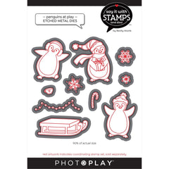 PhotoPlay Say It With Stamps Die Set - Penguins At Play