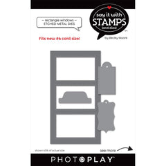 PhotoPlay Say It With Stamps Die Set - #6 Rectangle Window