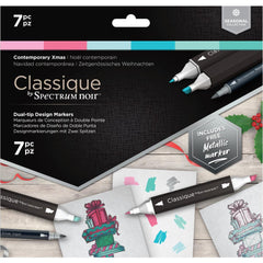 Spectrum Noir Classique Alcohol Markers 7 pack - Contemporary Christmas