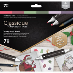 Spectrum Noir Classique Alcohol Markers 7 pack - Traditional Christmas