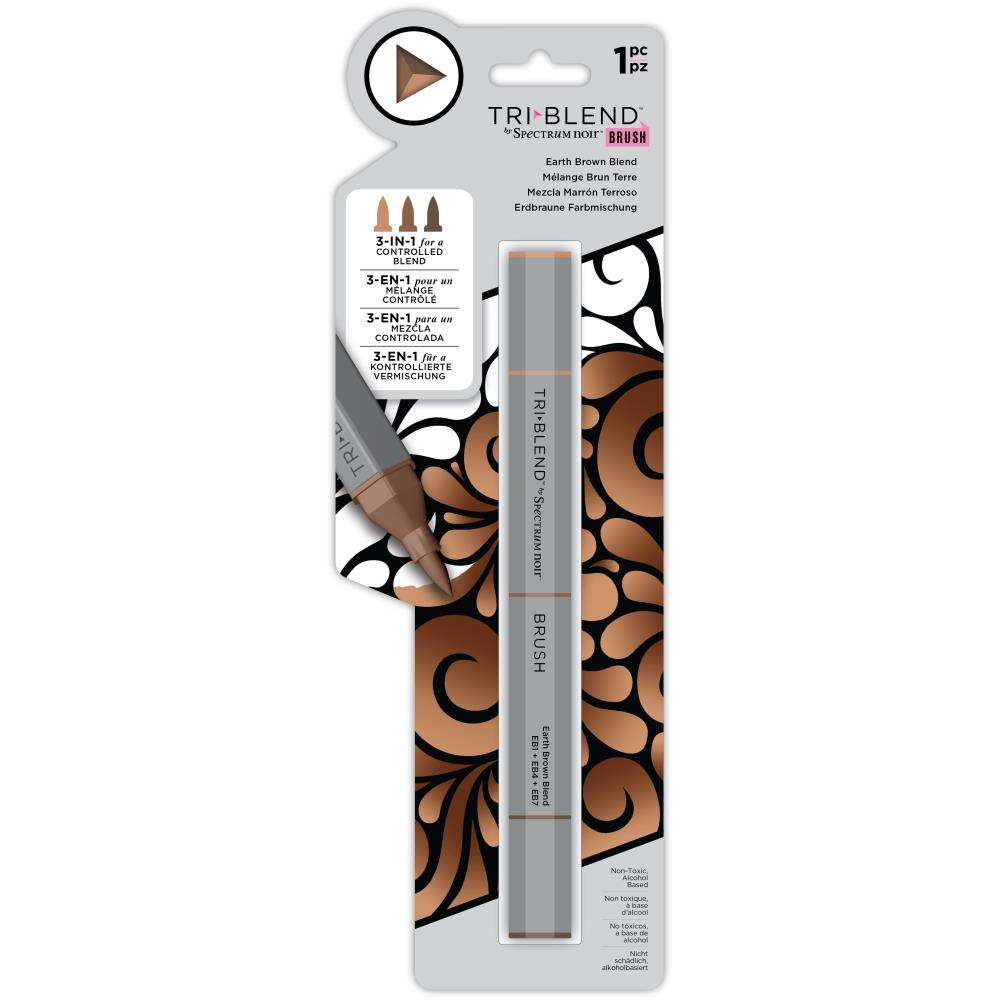 Spectrum Noir Triblend Brush Marker - Earth Brown Blend