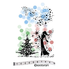Katzelkraft - Vulcanised rubber stamp - Lady Christmas