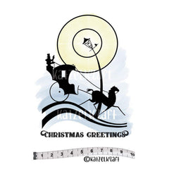 Katzelkraft - Vulcanised rubber stamp - Christmas Greetings