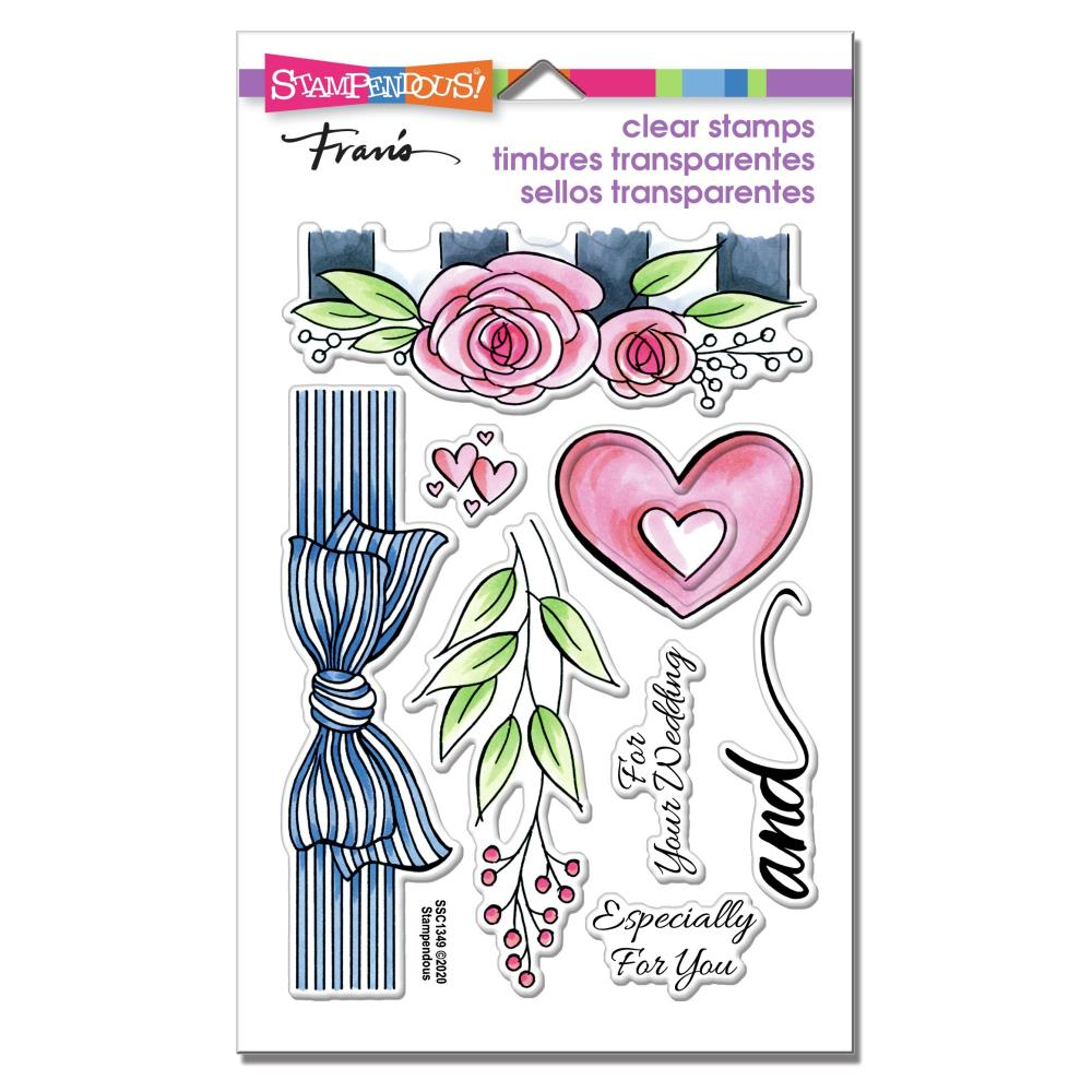 Stampendous Perfectly Clear Stamps - Wedding Gift - 4in x  6in set