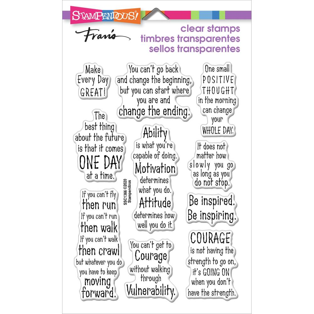 Stampendous Perfectly Clear Stamps - Courage Quotes