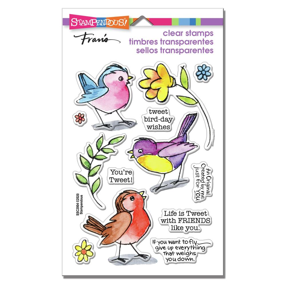 Stampendous Perfectly Clear Stamps - Sketchy Birds - 4in x  6in