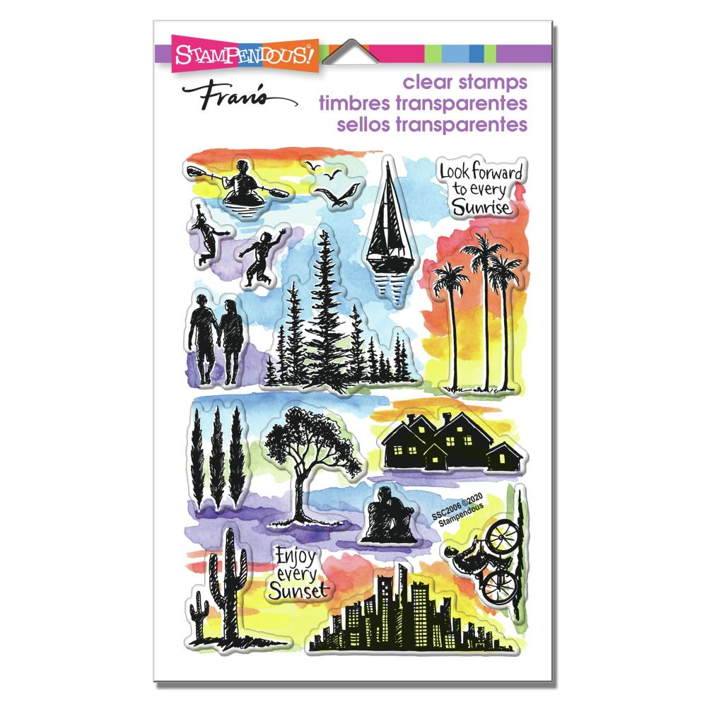 Stampendous Perfectly Clear Stamps - Sunrise Sunset - 4in x  6in