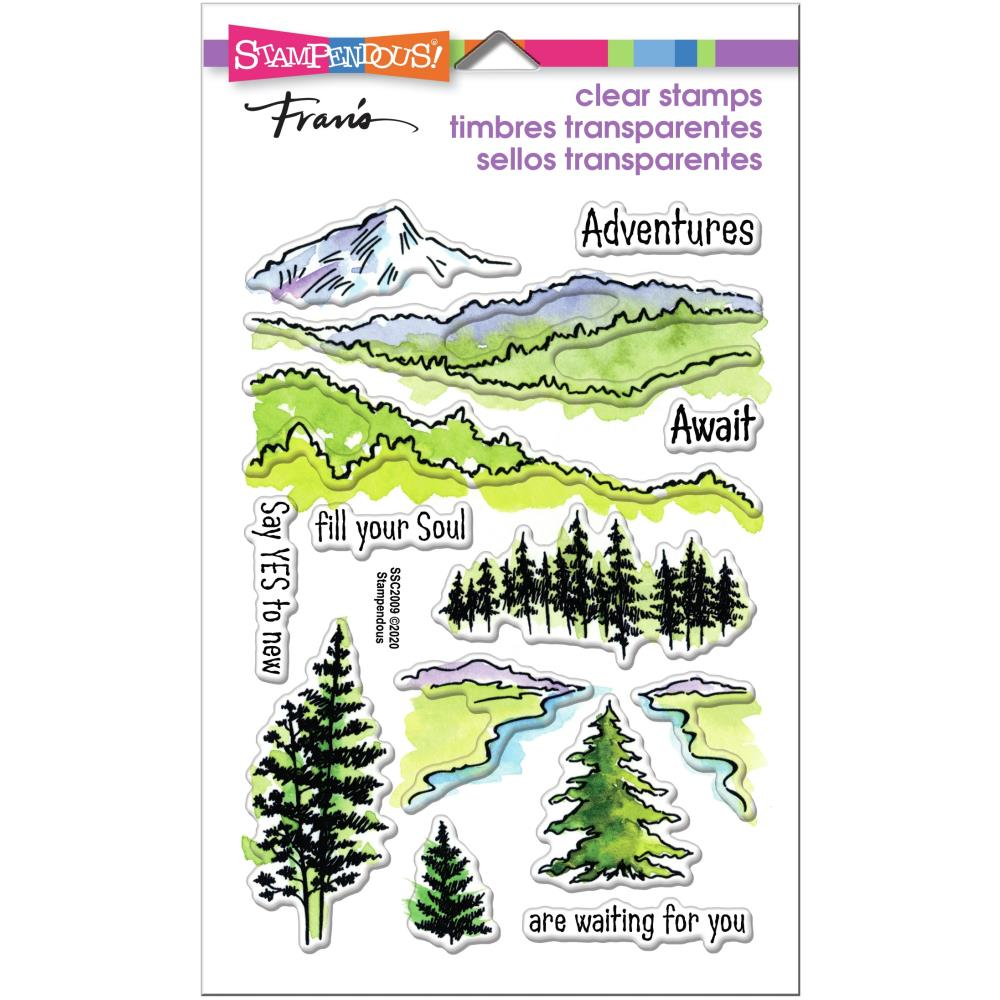 Stampendous Perfectly Clear Stamps - Adventure Awaits - 4in x  6in