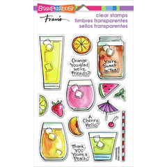 Stampendous Perfectly Clear Stamps - Fruity Drinks