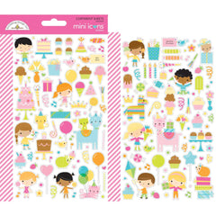 Dooblebug Mini Cardstock Stickers 2 pack - Hey Cupcake Icons