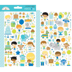Dooblebug Mini Cardstock Stickers 2 pack  - Party Time Icons