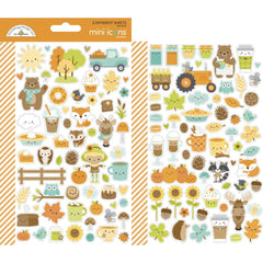 Dooblebug Mini Cardstock Stickers 2 pack  - Pumpkin Spice Icons