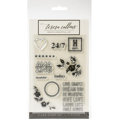 Teresa Collins Clear Stamp Set - Brightside, Happy 4in x 6in