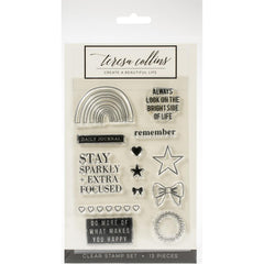 Teresa Collins Clear Stamp Set - Brightside, Remember -  4in x 6in