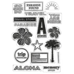 Teresa Collins Clear Stamp Set - Tropical Bliss