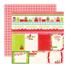 Echo Park - Happy Holidays Collection - 12 x 12 Double Sided Paper - Journaling