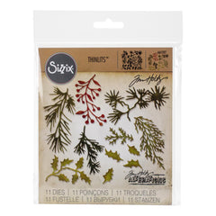 Sizzix - Framelits - Mini Holiday Greens