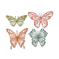 Sizzix - Thinlits Die Set 4 pack - Scribbly Butterflies by Tim Holtz