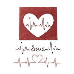 Sizzix - Thinlits Die Set 3 pack - Heartbeat by Tim Holtz