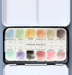 Prima Watercolour Confections Watercolour Pans 12 pack - Vintage Pastel