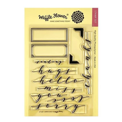 Waffle Flower Crafts Clear Stamp 5in X 7in - Simply Said