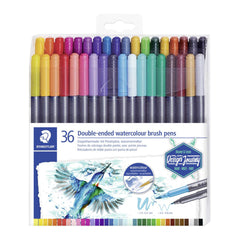 Staedtler - Marsgraphic Duo Double Ended Watercolour Brush Markers 36 Pack