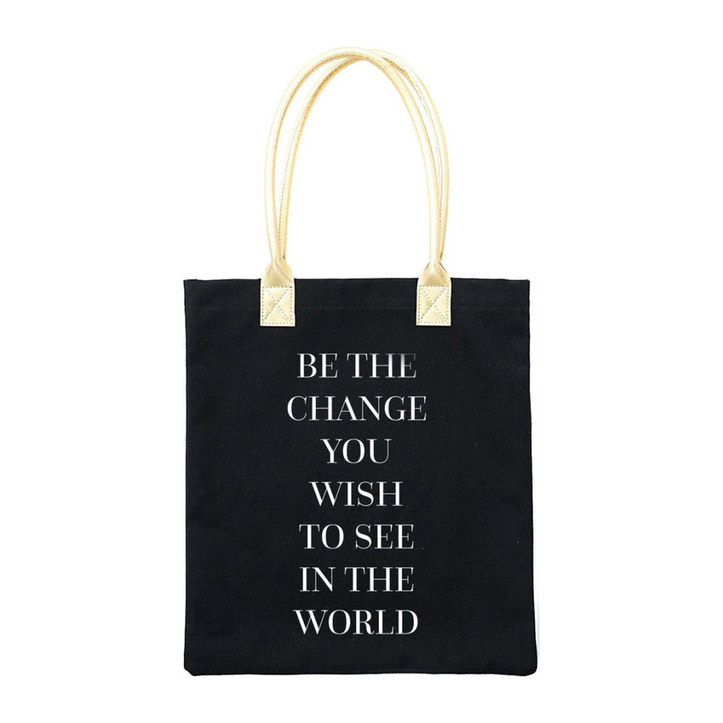 Teresa Collins - Totebag 13 inch x 14.5 inch - Be The Change