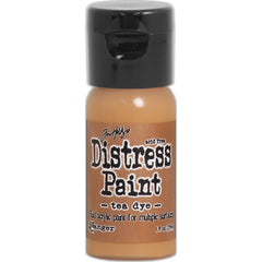 Tim Holtz Distress Paint Flip Top 1oz - Tea Dye
