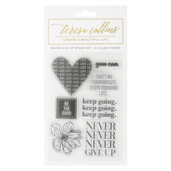 Teresa Collins Clear Stamp Set - Never Give Up, Empowerment
